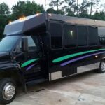 LimoVenture. Party Bus Deluxe Limo Style Seating with Stripper Pole